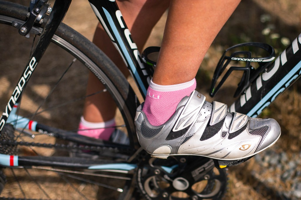 foot and bike wheels