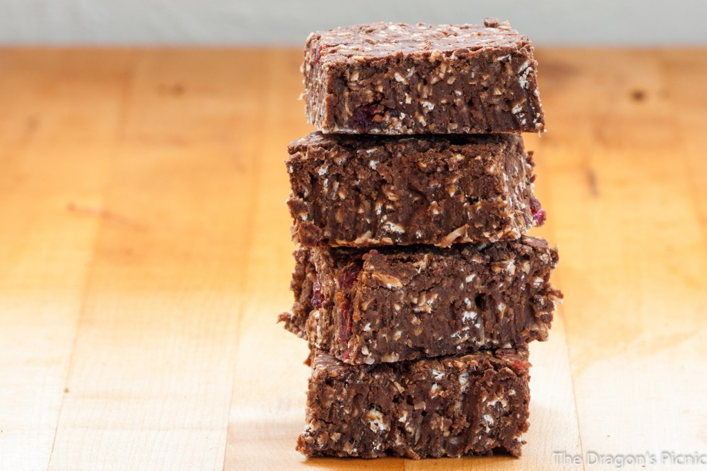 stack of chocolate chargers energy bars