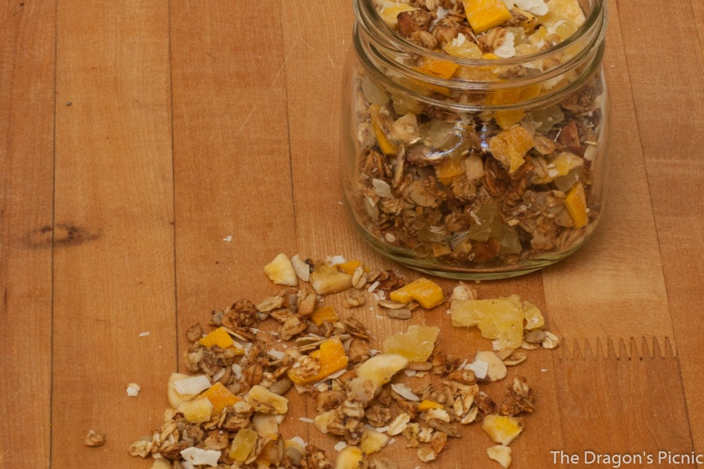 jar of tropical vacation granola